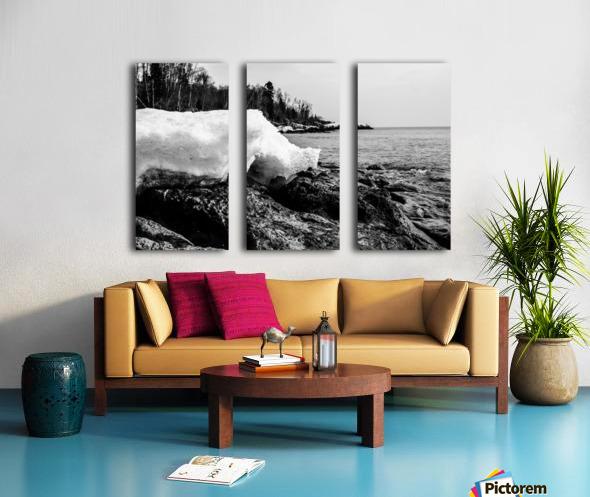 Spring Lakeshore Split Canvas print