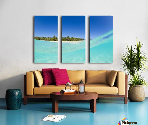 Tropical Island, Blue Sky and Beautiful Ocean Split Canvas print