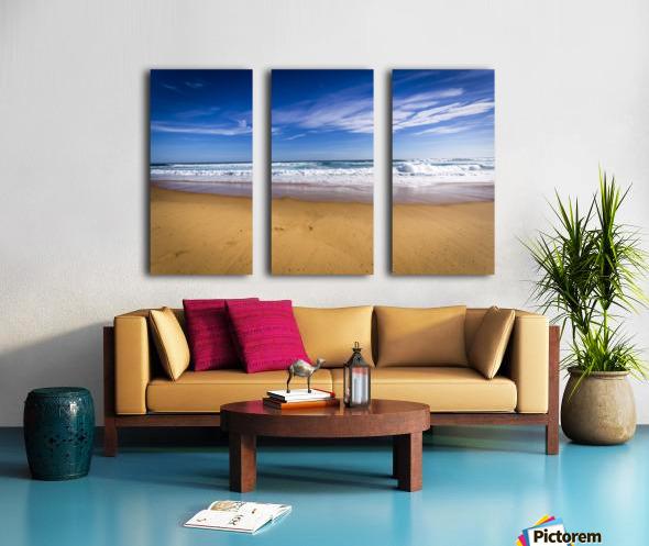 Beach Split Canvas print