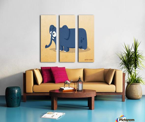ELEPHANT Split Canvas print