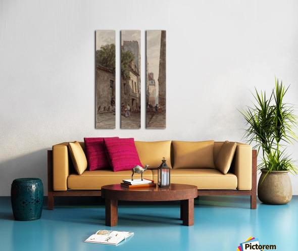 Maison du diacre Francois de Paris rue des Bourguignons Split Canvas print