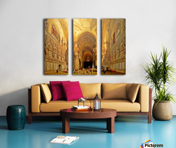 Interieur de la cathedrale Saint-Jean-des-Rois de Tolede Split Canvas print
