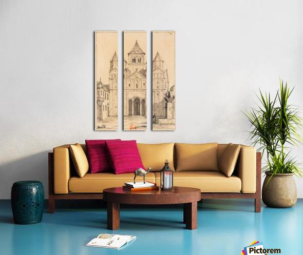 Eglise de Marrmoutier Split Canvas print