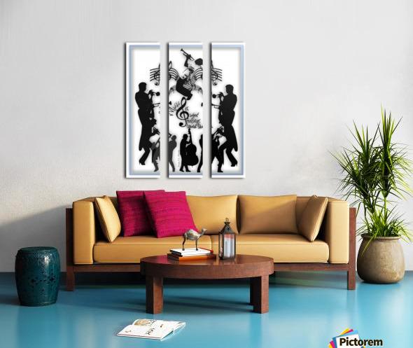 Music Feelings Split Canvas print