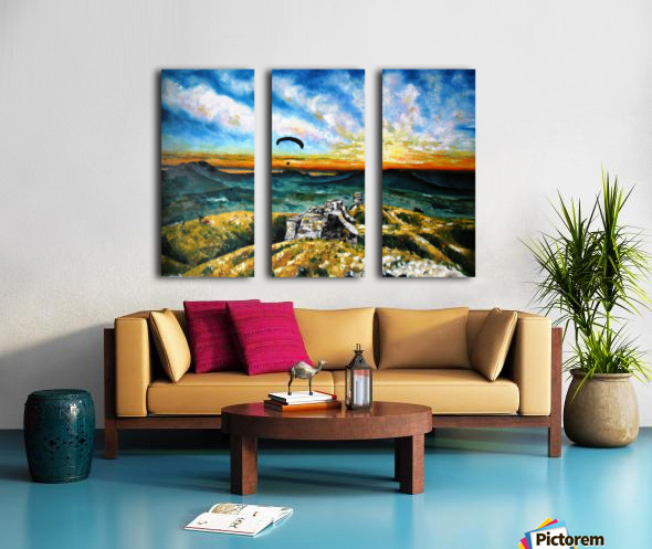 Paragliding Split Canvas print