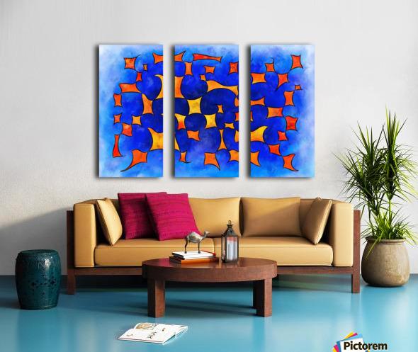 Blesmios V1- melting cubes Split Canvas print