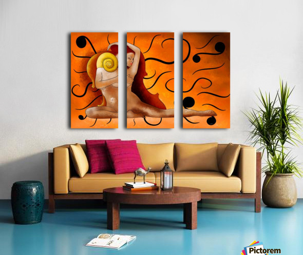 Aspenissia_V1 - violinhair Split Canvas print