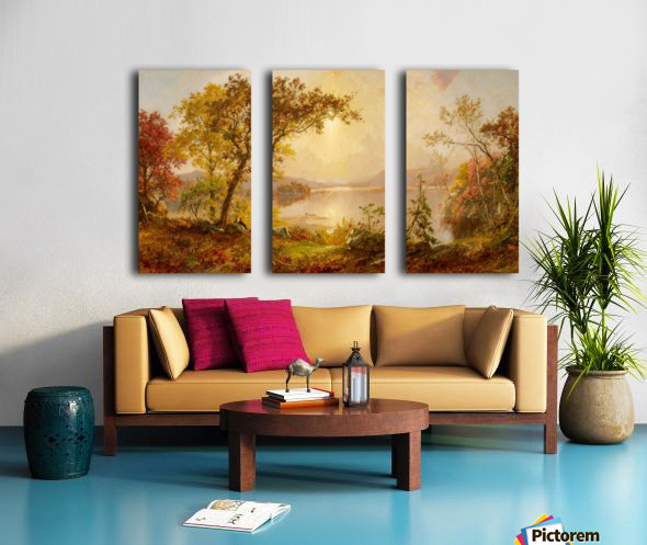 Lake Autumn on the Hudson Split Canvas print