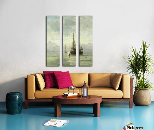 Kalme zee Split Canvas print