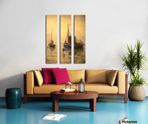 Aankomst van de Vis Split Canvas print