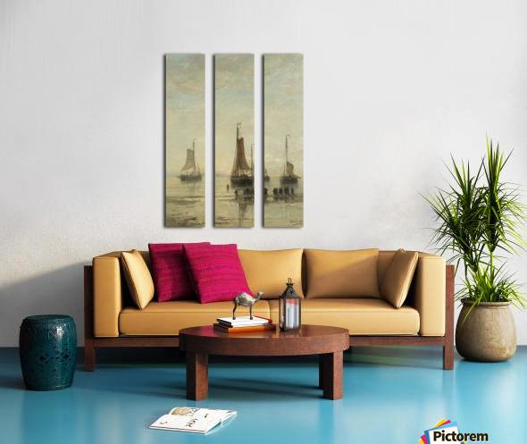 Scheveningse bommen voor anker Split Canvas print