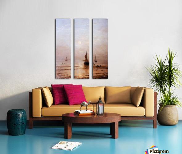 Summer Evening Scheveningen Sun Split Canvas print