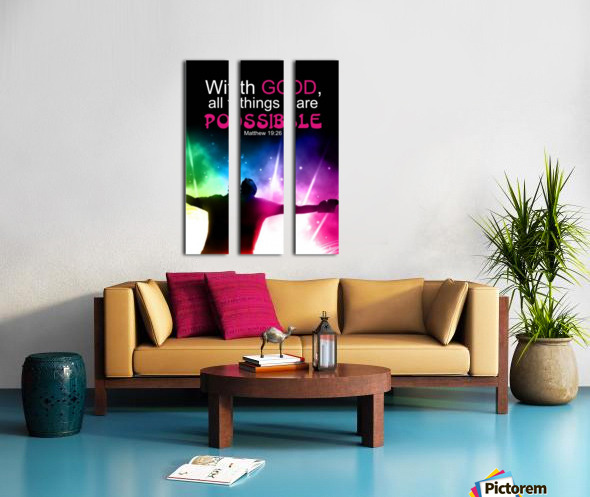 All things Possible Split Canvas print