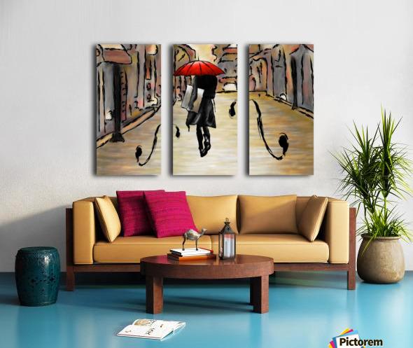 Hafanissia V1 - lady umbrella Split Canvas print