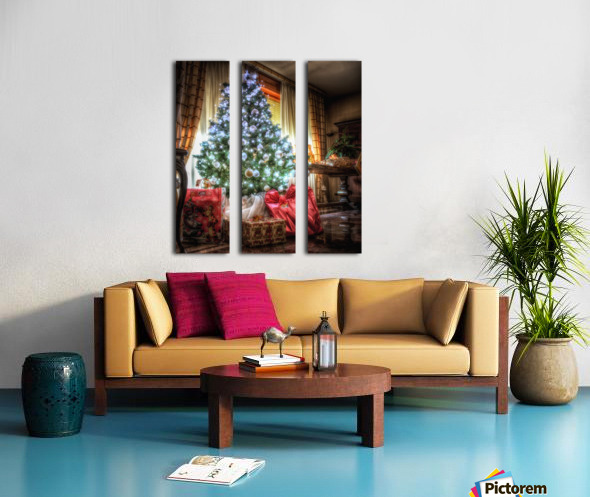 Christmas Tree Split Canvas print