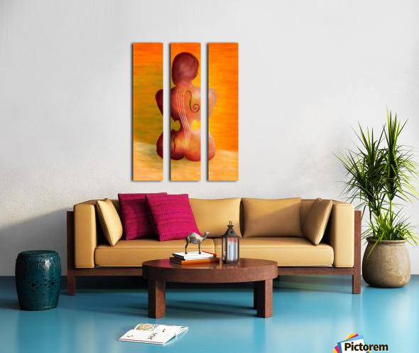 Vioseussa V1 - violin lady Split Canvas print