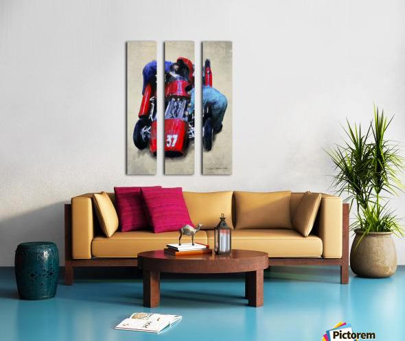 Lancia D50 1955 Split Canvas print