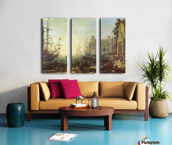 Seaport with the Villa Medici Split Canvas print