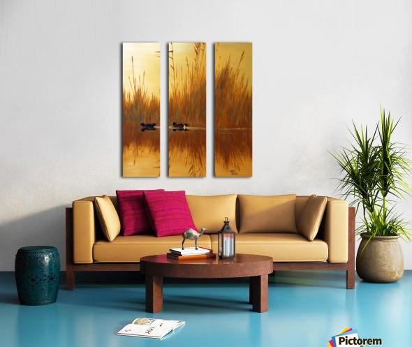 American Wigeon Split Canvas print