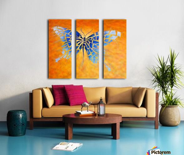 Tropenillo V1 - the blue butterfly Split Canvas print