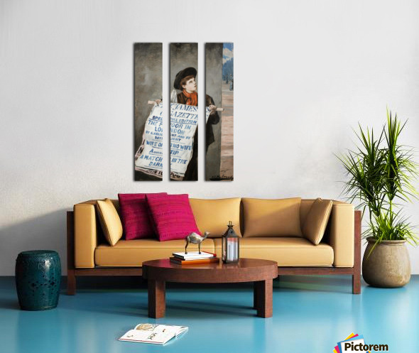 A small boy advertising the news Split Canvas print