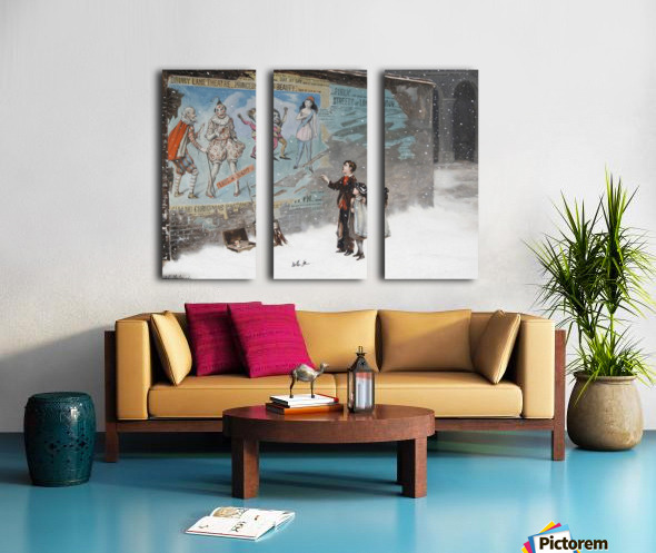 Watching a theatre poster Split Canvas print