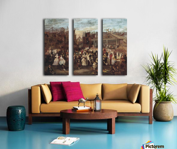 Greenwich fair Split Canvas print
