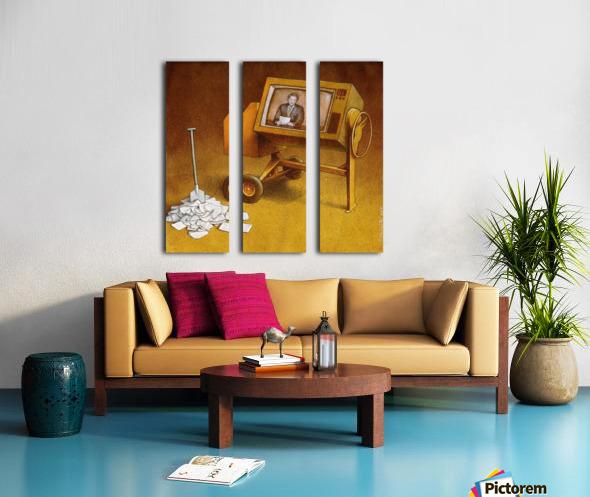 concrete mixer ( propaganda ) Split Canvas print