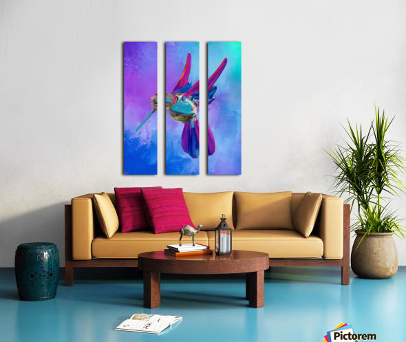 Glass Bird Abstract  Split Canvas print