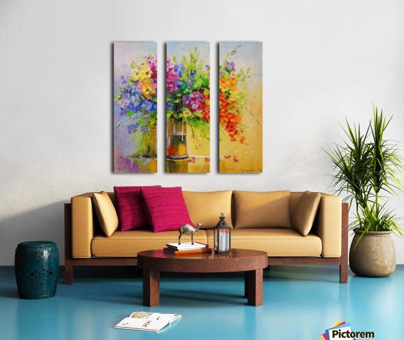 Wildflowers Split Canvas print