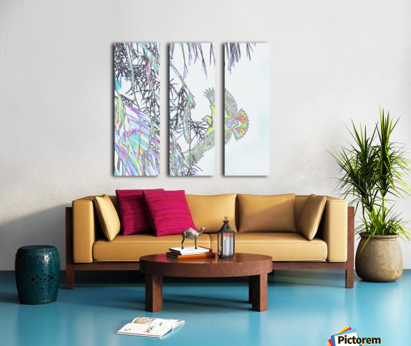 Orioles Abstract 3   Split Canvas print