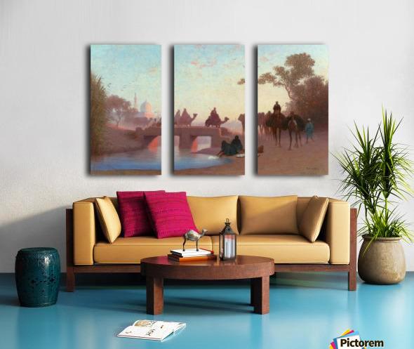 Environs du Caire Split Canvas print