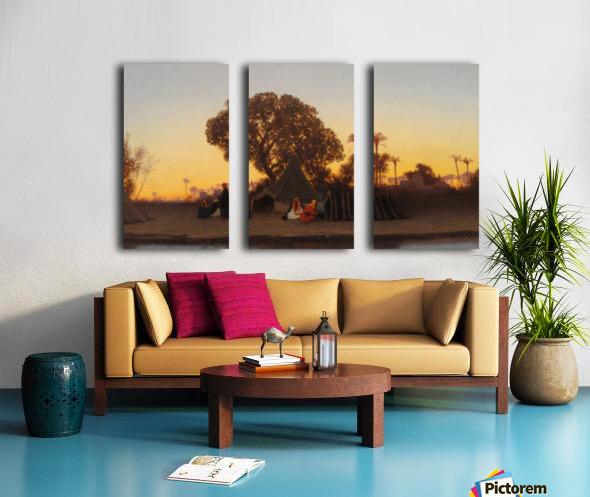 Arab encampment at sunset Split Canvas print