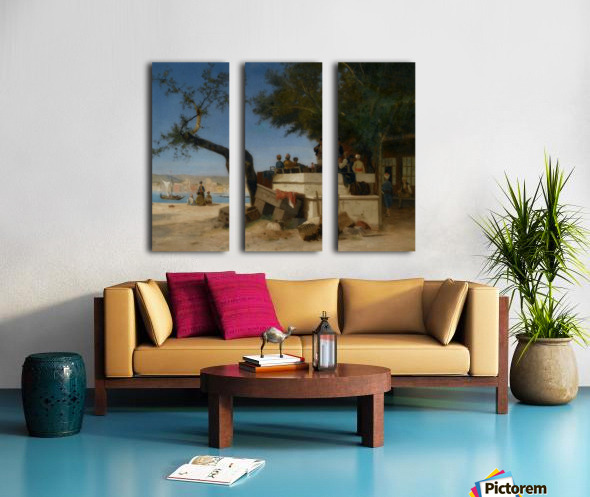 An Eastern Cafe Split Canvas print