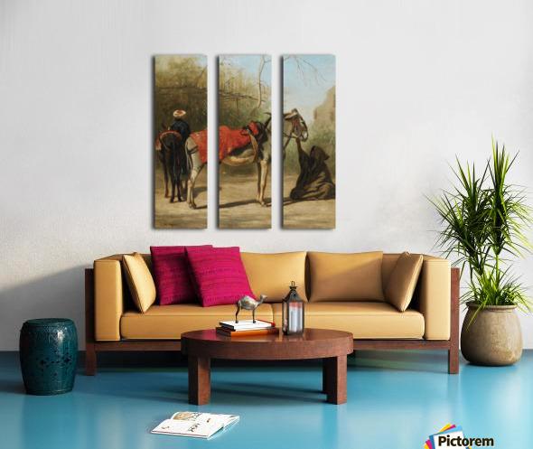 Donkeys in Cairo Split Canvas print