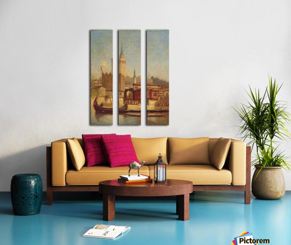 The Galata Tower, Constantinople Split Canvas print