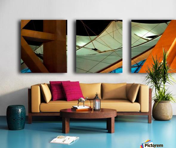Multi Dimensional Split Canvas print