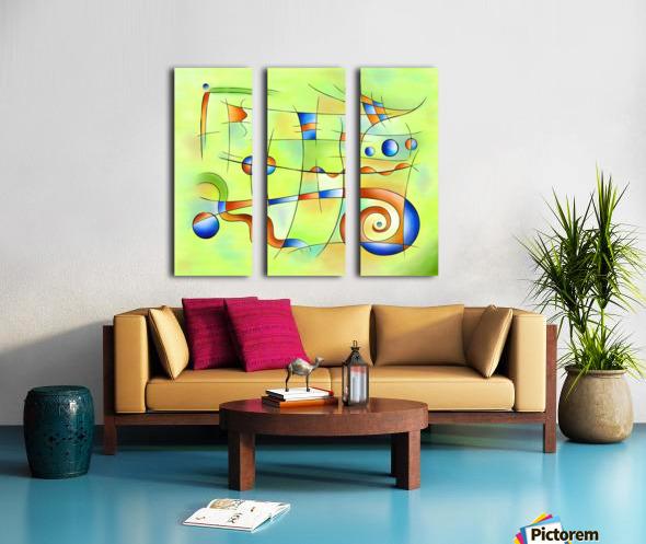 Frenesia - mad world Split Canvas print