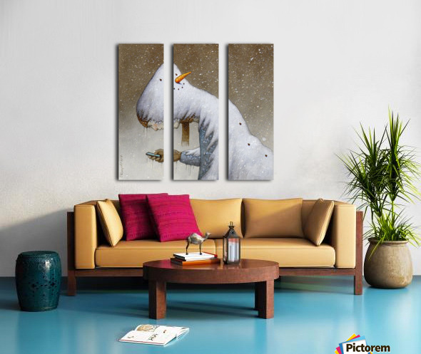 snowman Split Canvas print