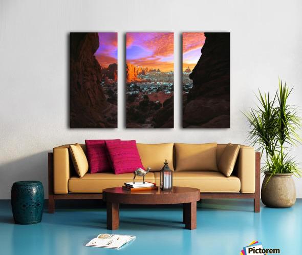 Rocky Buttes Viewed Through Canyon Split Canvas print