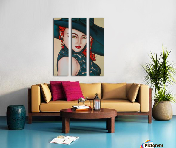 Red beauty Split Canvas print