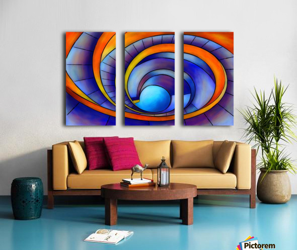 Melanissia - abstract moonrise Split Canvas print