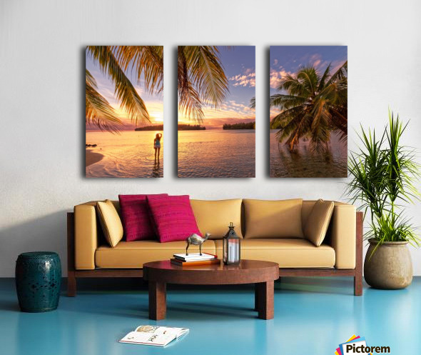 Tahitian sunsets Split Canvas print