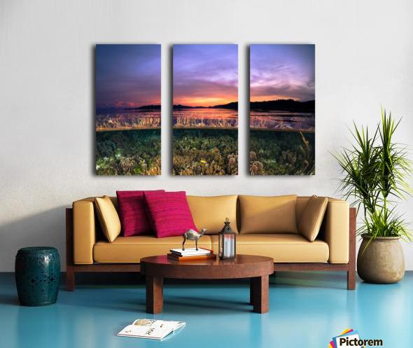 Raja Ampat sunrise Split Canvas print