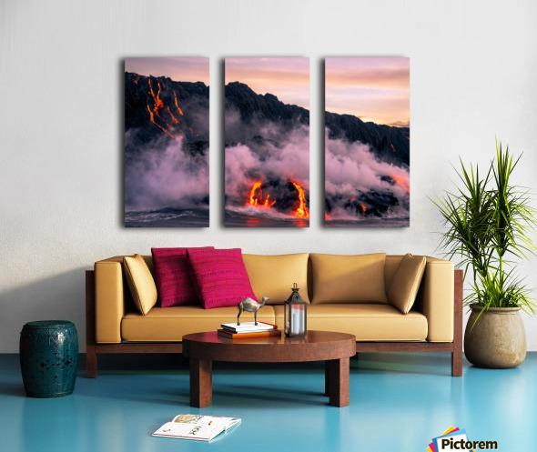 Sunrise at the lava flow Split Canvas print