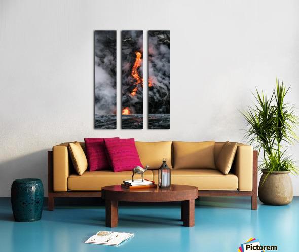 Simple lava shot Split Canvas print