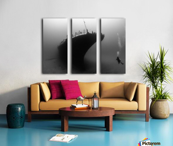 Sea tiger Split Canvas print