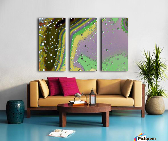 Raindrops 4   Split Canvas print