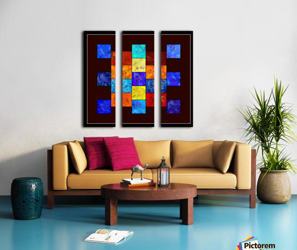 Ecleptios - colourful world Split Canvas print