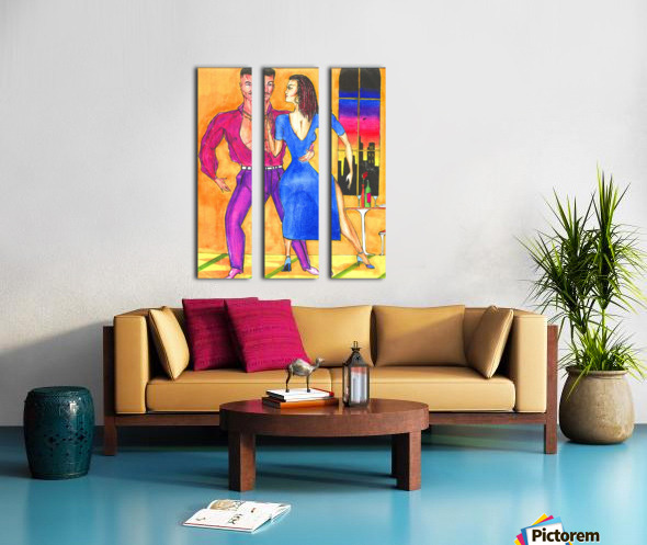the dance Split Canvas print